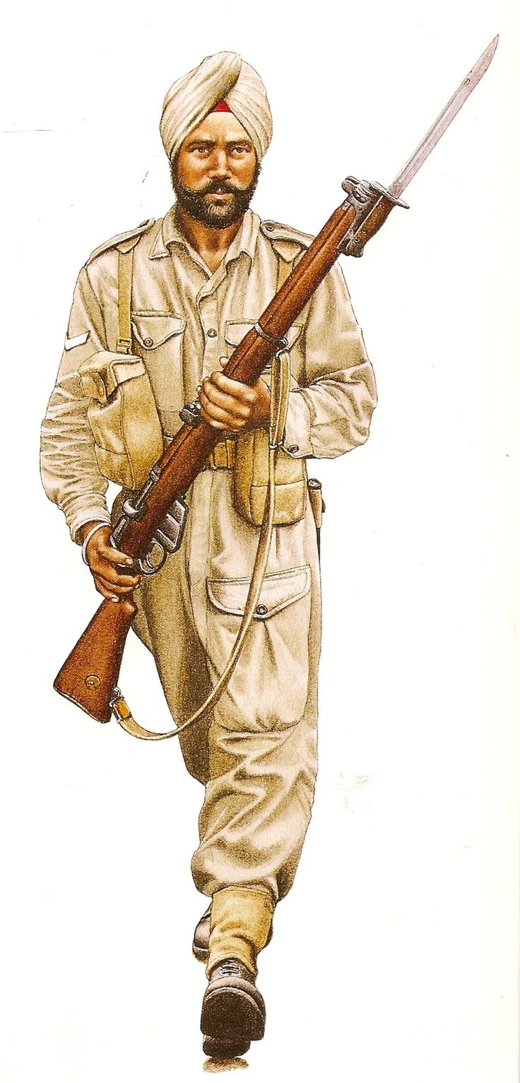 Kashmir 1965, lance corporal Indian Army, pin by Paolo Marzioli