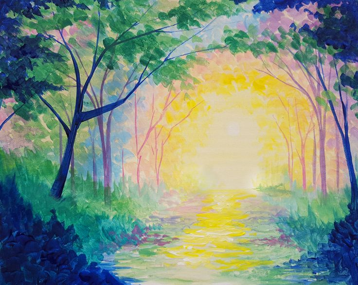 Spring In The Park At Tin Lizzy S Emory Point Paint Nite