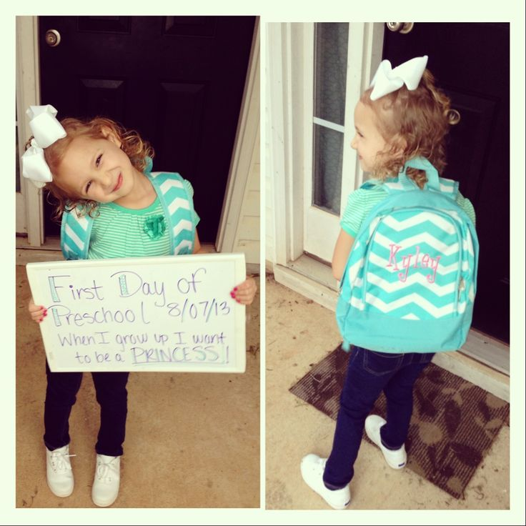 First Day of Preschool :)