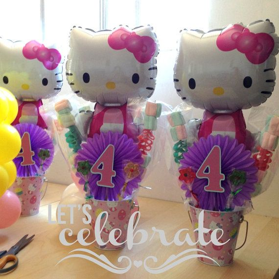 hello kitty centerpiece by Arelyslittleshop on Etsy, $11.00