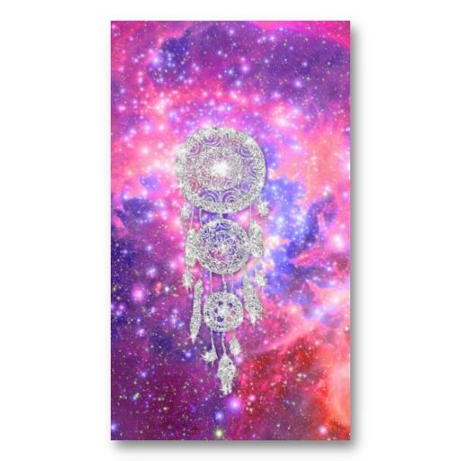 19 best native american business cards images on pinterest galaxy nebula glitter dreamcatcher pink space business card colourmoves Choice Image