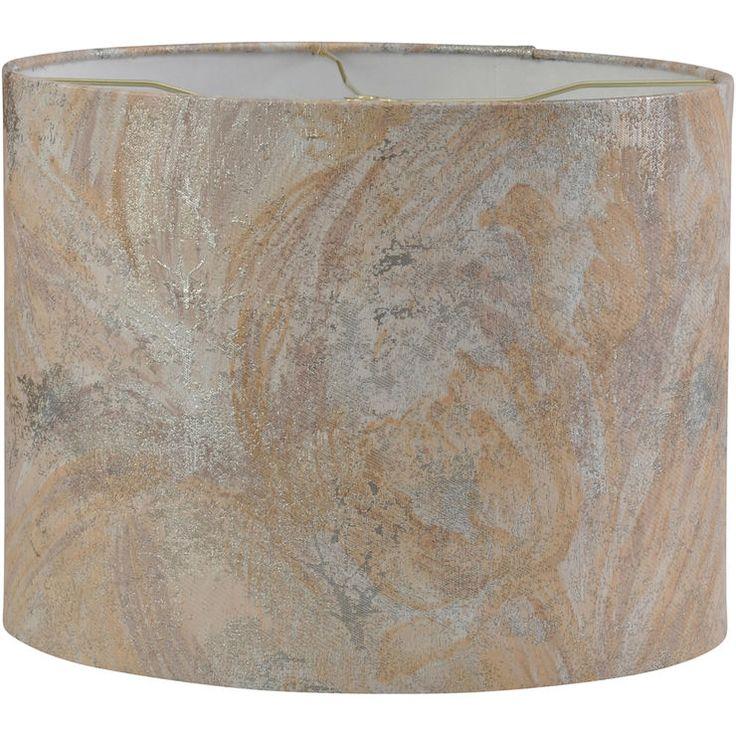 Marble Tan Lamp Shade 15 x 15 x 11.5-in
