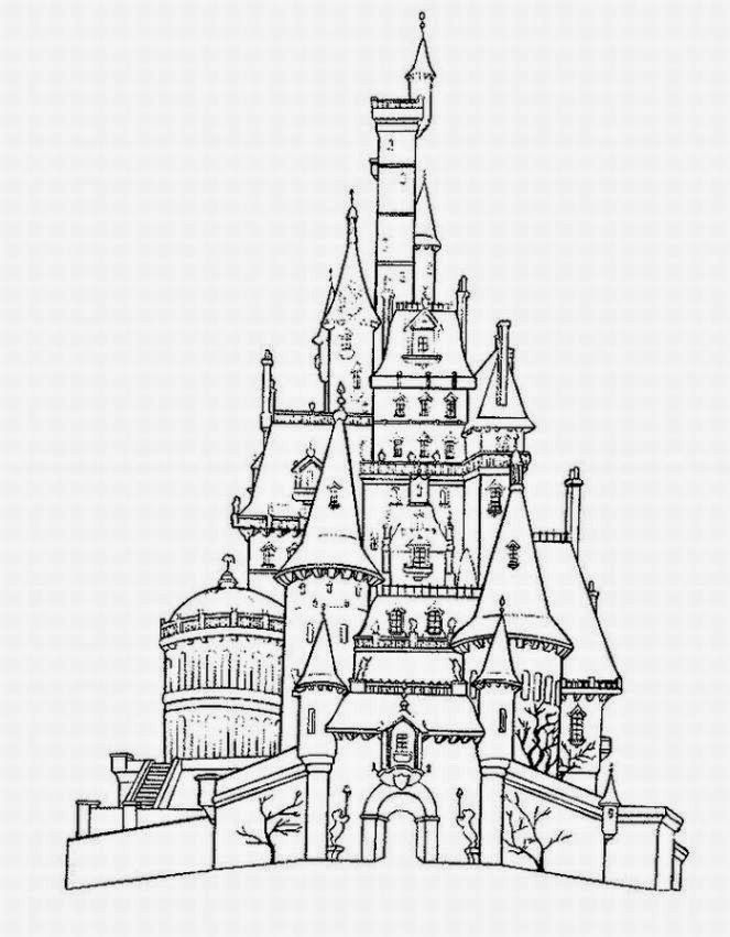 Disney World Castle Coloring Pages In 2020 Castle Coloring Page Disney Coloring Pages Beast S Castle