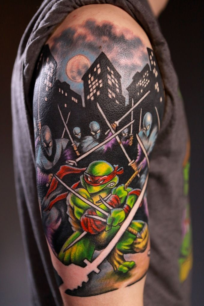 19 Cool Teenage Mutant Ninja Turtle Tattoos #tmnt
