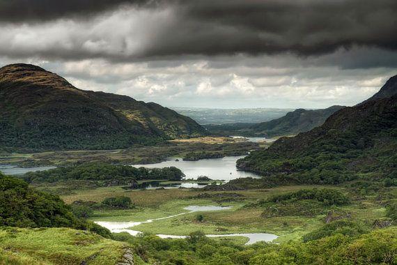 Irish Landscapes  Ring of Kerry Ireland  18X12 by viewsofireland, €40.00  Ladies View in Killarney National Park, Ireland. Breath taking views!