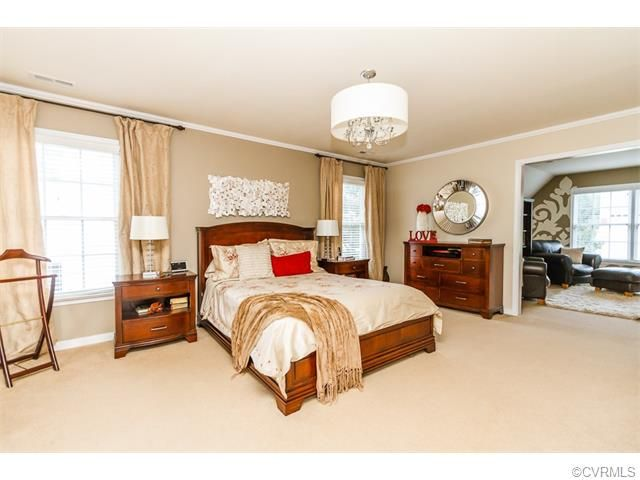 Master Bedroom With Private Bay Window Nook 1525 Lundy Terrace Chesterfield Va 23114 Mls