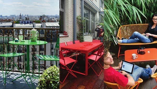 Fermob propone mobili da giardino in metallo colorati, allegri e accessibili, per la decorazione, il relax e la convivialità in giardino. I mobili Fermob si caratterizzano per le loro forme originali e una tavolozza esclusiva di colori. http://paperproject.it/rubriche/design/interior-d/idee-colorate-terrazzo-allegro/ #design #homedecor