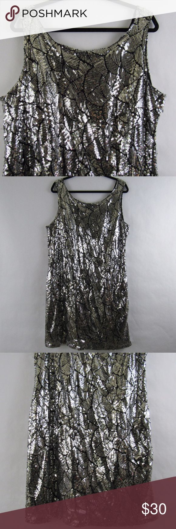 Sexy Sparkly Party Plus Size Dress Perfect for any party!  Christmas, New Year, Cocktails or just a night out dancing.  It going to look fab under a blazer or cardigan. Mlle Gabrielle Dresses