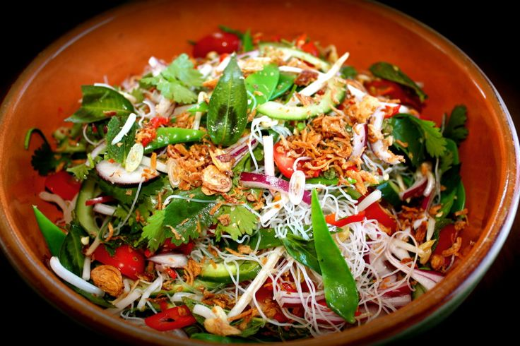 This lovely noodle salad makes a gorgeous lunch on its own or add some fish, chicken, prawns, beef etc for a satisfying and healthy