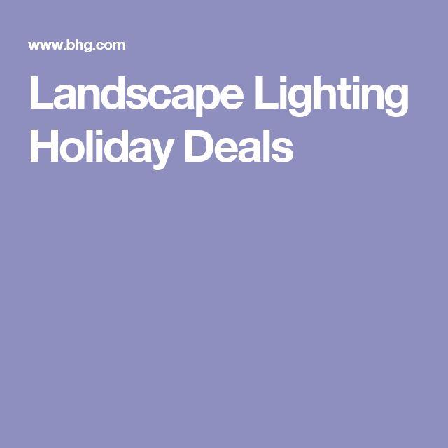 Landscape Lighting Holiday Deals