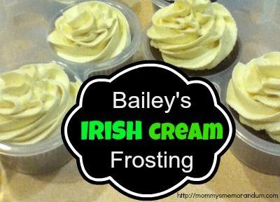 Bailey's Irish Cream Frosting Recipe #recipes #cupcakes