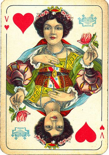 Dutch playing cards from 1920-1927: Queen of Hearts by Michiel2005, via Flickr