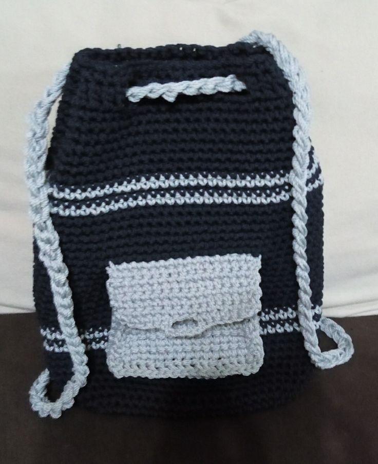 Backbag crochet , hand made , Bag