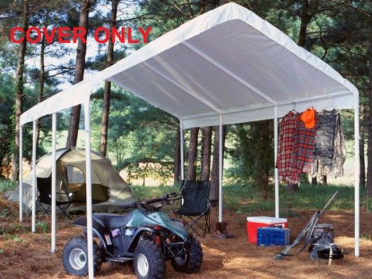 King Canopy Replacement drawstring cover - White - Fits the C81027PC u0026 HC1027PC #StorageShedsOutlet & Best 25+ Replacement canopy covers ideas on Pinterest | Deck ...
