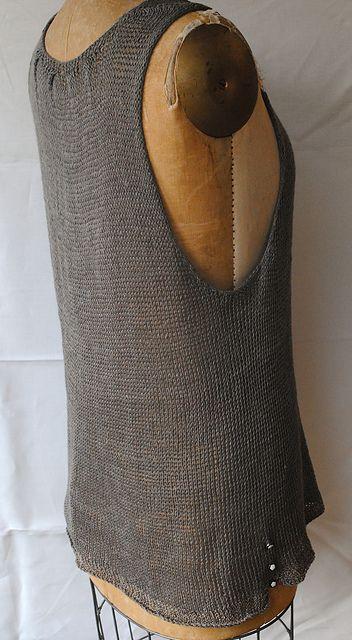 Ravelry: Janna's Tunic pattern by Grace Akhrem. Knitting pattern uses Sunnyside Ellen Louet Gems Sport or Habu Textiles Tsumugi Silk Combination.