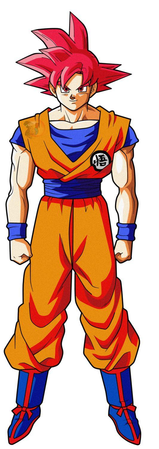 Goku SSJG #4|FacuDibuja by FacuDibuja