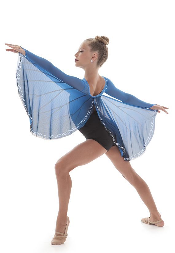 """Butterfly"" dance costume- gorgeous soft wings that attach with finger loops"