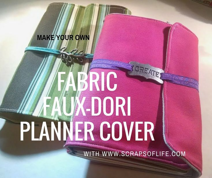 make your own fabric fauxdori planner cover diy fabric covered notebook pinterest make. Black Bedroom Furniture Sets. Home Design Ideas