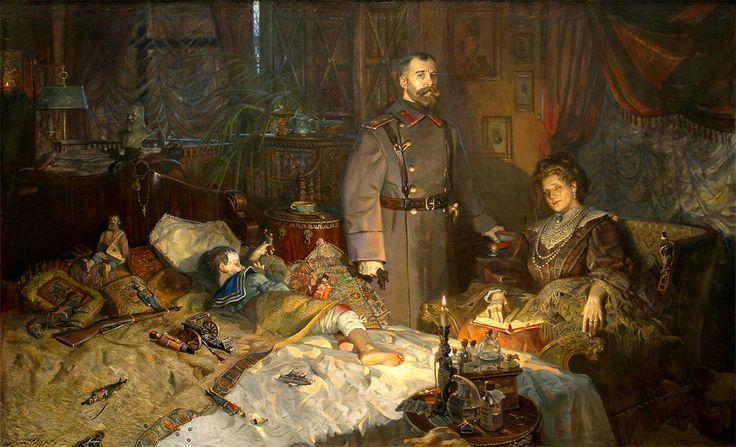 Рыженко Павел.  Александровский дворец  (№2 из Триптиха «Царская Голгофа»…