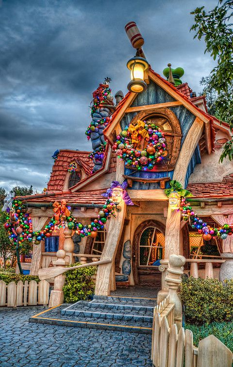 Toontown in Disneyland at Christmas. Ah, Christmas Disneyland. My absolute favorite!