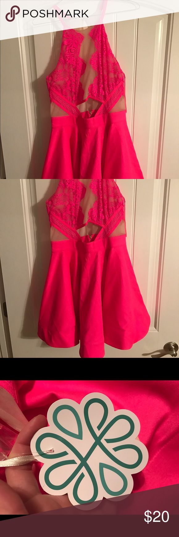 Shop Hope's Dress. Brand new with tags. Neon pink dress. Size M. Beautiful. Make an offer. Price negotiable. Dresses Mini