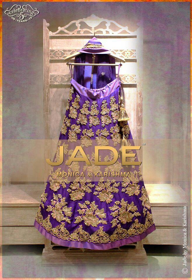 purple designer lehenga with embroidery