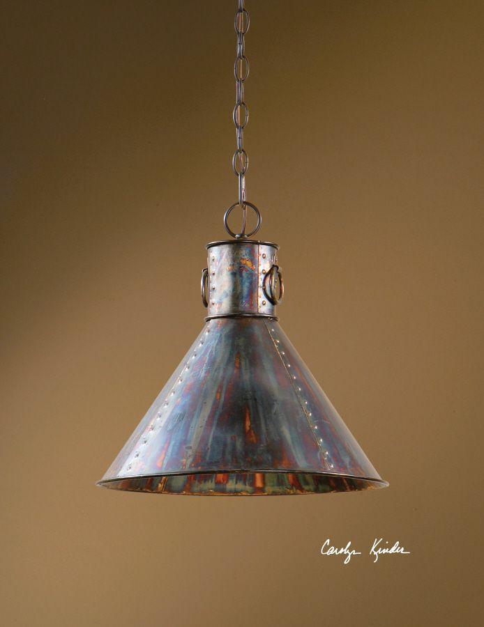 Cultured Patina Metal Hanging Pendant