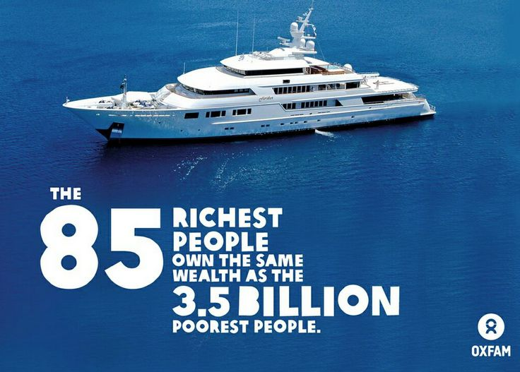 Have yacht or have not? The richest 1% now own half the world's wealth. The gap's getting wider and it's keeping people in poverty. SHARE this post and learn more here on TheJournal.ie: http://www.thejournal.ie/worlds-richest-people-wealth-oxfam-report-1272951-Jan2014/