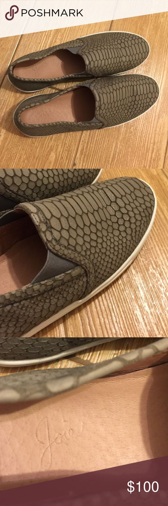 Joie kidmore sneaker Hunter green, leather material, great condition. ACCEPTING OFFERS Joie Shoes Flats & Loafers