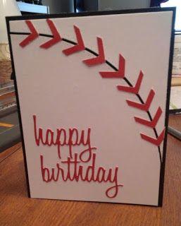 Sheryl's Crafting Corner: Baseball sports theme birthday card