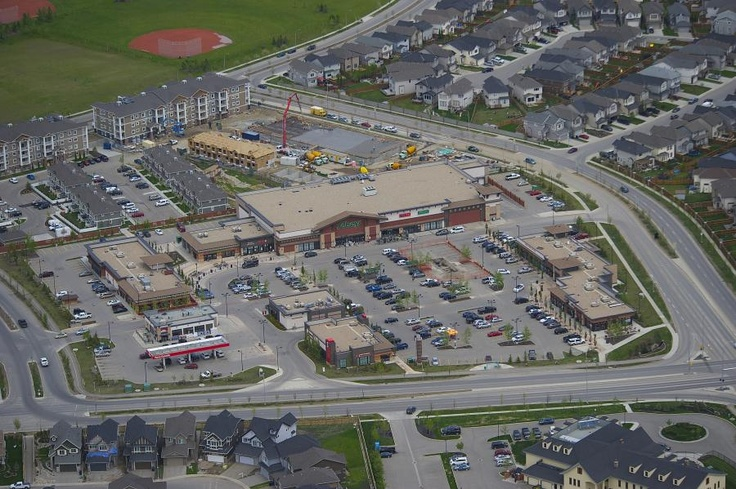 The complete community - Cranston, Calgary - grocery, gas, restaurants & more located in the community www.livecranston.ca