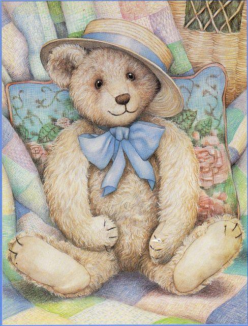 Teddy in a hat. by sue-tarr, via Flickr