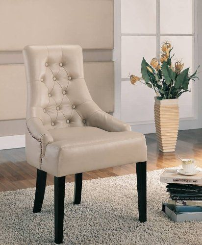 Coaster 900284 Classic Louis Style Accent Chair, Cream | [Polo's] Furniture