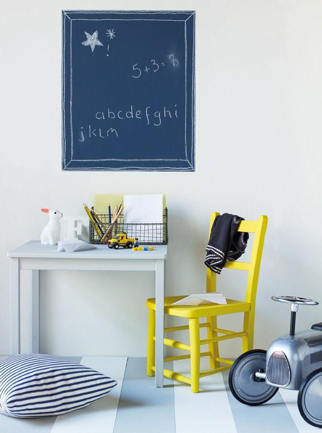 Child Safe Paints   Blackboard/Childu0027s Desk Walls In Bone China Blue Chalk  Board