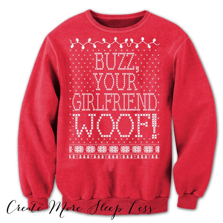 Home Alone. Merry Christmas. Buzz Your Girlfriend Woof. Ugly Christmas Sweatshirt. Tacky-Christmas-Sweater. Filthy-Animal. Ya Filthy Animal. by CreateMoreSleepLess on Etsy https://www.etsy.com/listing/247379371/home-alone-merry-christmas-buzz-your