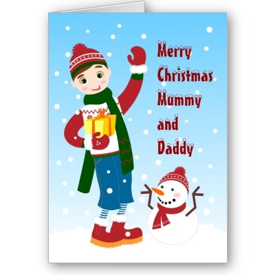 Boy Christmas wishes Card