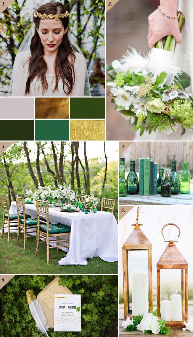 Emerald green, bronze + gold   Kullan ja vihreän lumoa - Best Day Ever
