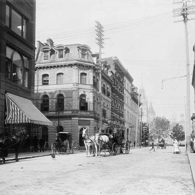 Ottawa, Metcalfe at Sparks Street 1885