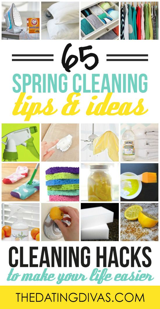 All these cleaning tips and ideas make me WANT to go clean! www.TheDatingDivas.com
