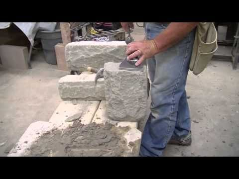 Site Cutting Arriscraft Building Stone   YouTube