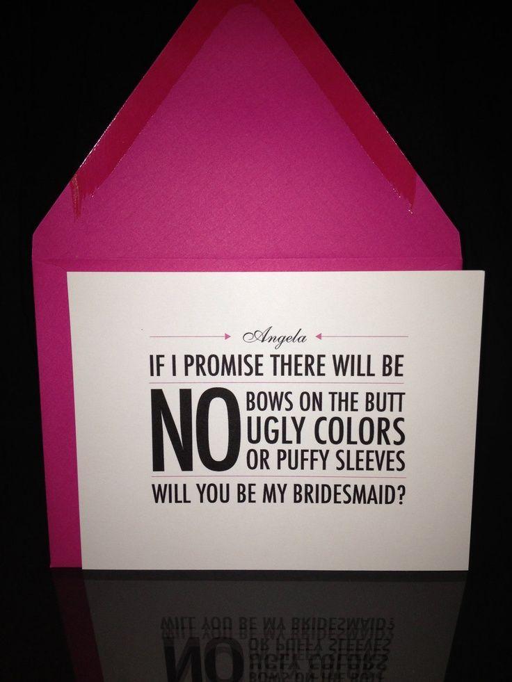 Bridemaids invitation