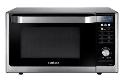 Il forno intelligente Samsung Smart Oven<sup>TM</sup> compatto di nuova generazione ti aiuterà a vincere qualsiasi sfida culinaria. Tecnologia intelligente e prestazioni di cottura di alta qualità si fondono in un elegante dispositivo in acciaio inossidabile, che si adatta all'arredamento di qualsiasi cucina e ti aiuta a preparare piatti sani e gustosi.
