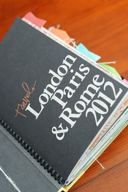 Travel Smash book, this is a great idea verses your slandered scrap booking