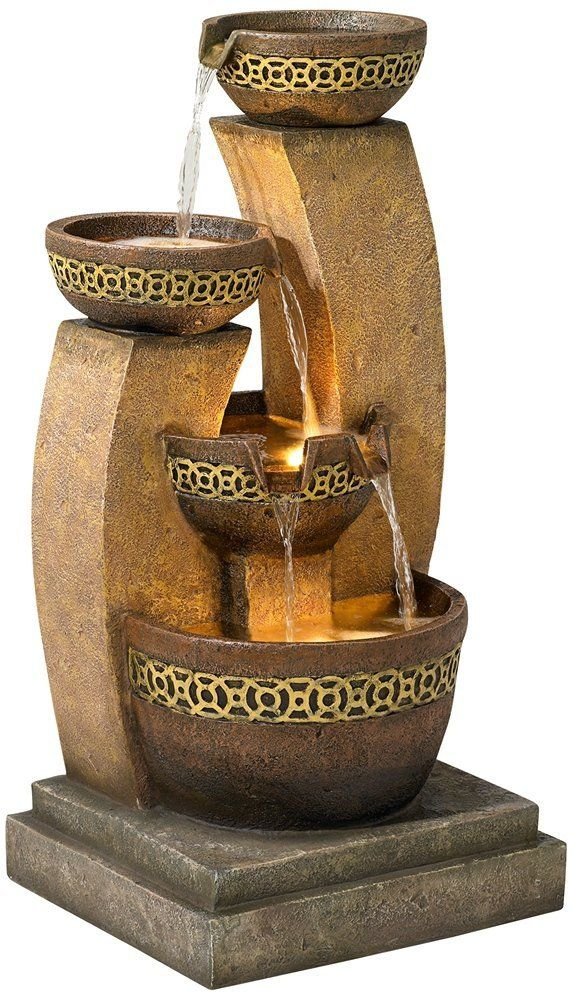 "Amazon.com: Three Bowl 41 1/2"" High Cascading Fountain: Home & Kitchen"