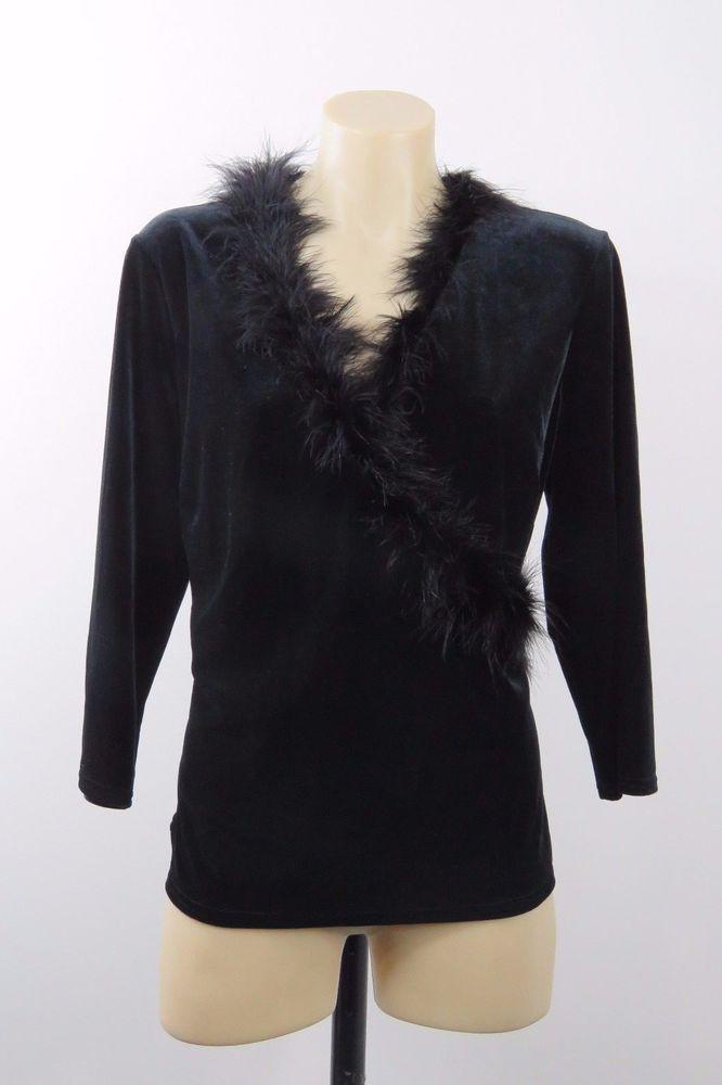 Size XL 16 Ladies Black Top Tunic Fix Wrap Evening Cocktail Wedding Gothic Style #AlexCo #Wrap #EveningOccasion
