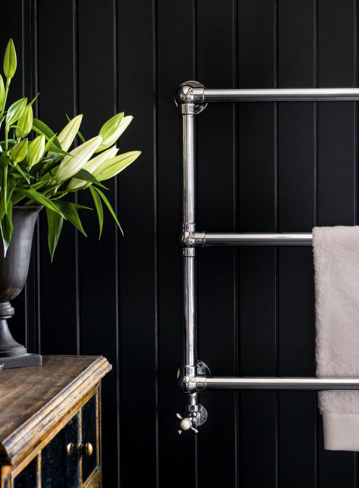 The Wall Mounted Heated Towel Rail by Global Bathrooms   https://www.globalbathrooms.co.uk/heating/heated-towel-rails.html