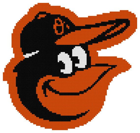Counted Cross Stitch Pattern Baltimore Orioles by ...