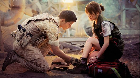 Some relationships are fated, despite the challenges of time and place. Yoo Shi Jin (Song Joong Ki), the leader of a Special Forces unit, meets trauma surgeon Kang Mo Yeon (Song Hye Kyo) in a hospital emergency room after Shi Jin and his second-in-command, Seo Dae Young (Jin Goo), chase down a thief on their day off. Shi Jin is immediately smitten with Mo Yeon, and he asks her out on a date. But Shi Jin keeps getting called to duty when he is with Mo Yeon, and the two also realize that they…