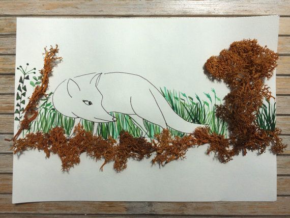 Fox hunting/ Art drawing by ludmilu on Etsy