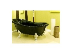 Disegno Ceramica Epoca: Wanna wolnostojąca, czarna. Freestanding black bathtub.